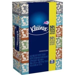 Perfect balance of softness and strength with Kleenex Everyday Facial Tissues.