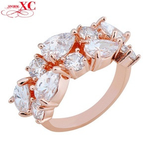 Cherryn Jewelry Finger Wedding Ring Vintage White Zircon aneis aros Size 6/7/8/9/10 T Rose Gold Filled Ring RY0251
