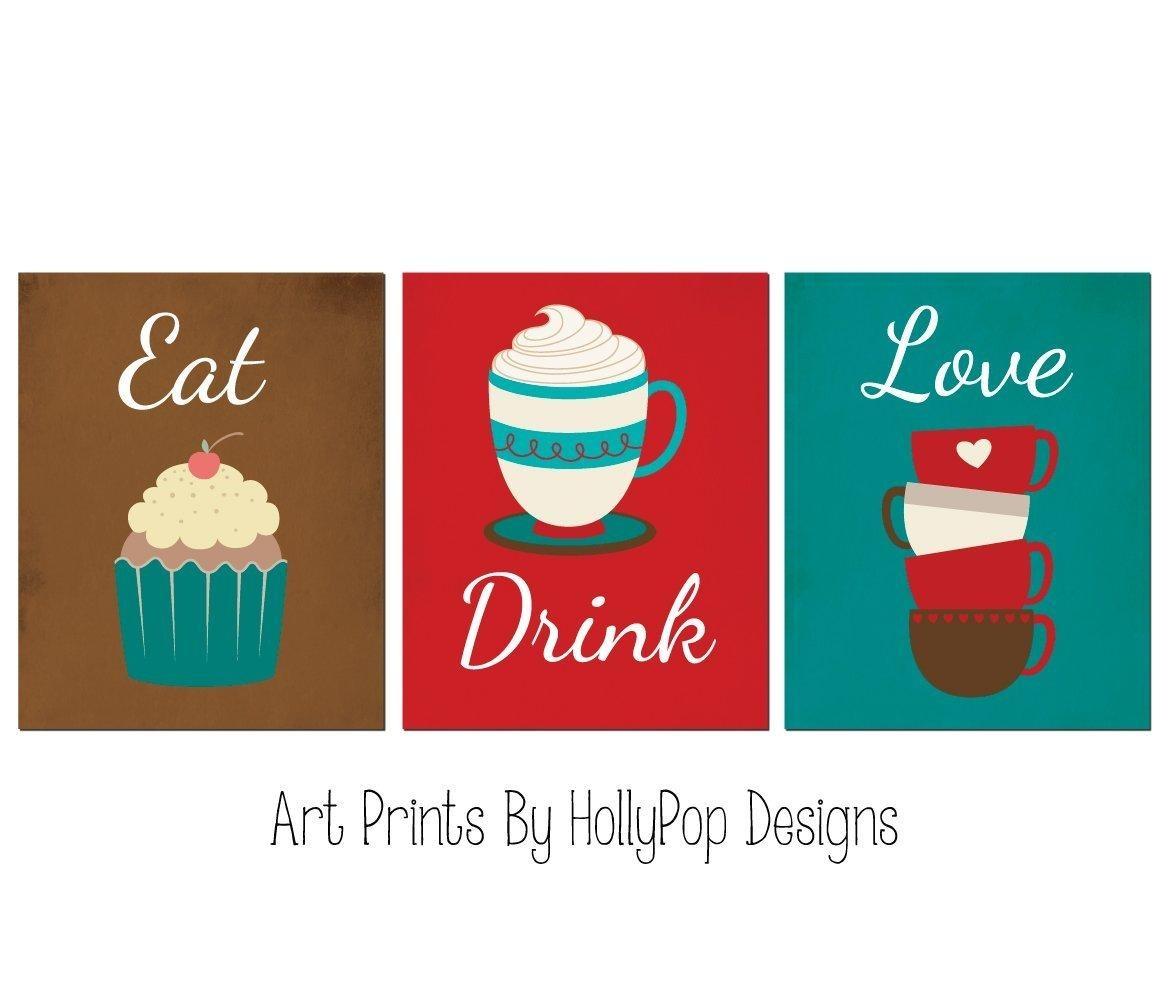 Cupcake Kitchen Decor Sets Online Store Kitchen Art Prints Red Turquoise Kitchen Decor