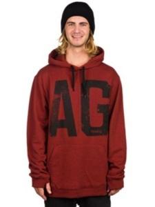 Analog Agent Hoodie Sweatshirt Oxblood Size 2XL