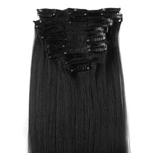 DuaFire Free 22 12pcs Full Head Clip in Synthetic Hair Extensions Straight NEW (#01-jet black) by DuaFire