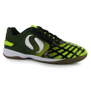Mens Sondico Futsal II Indoor Football Trainers Shoes Black Yellow (UK 7 / US 7.5)
