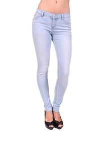Celebrity Pink Women Skinny Jeans with Gold Stitch 7 Light Denim