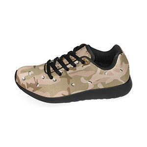 Cariben Camouflage Lightweight Running Shoes Sports Sneakers For Women And Girls,Black