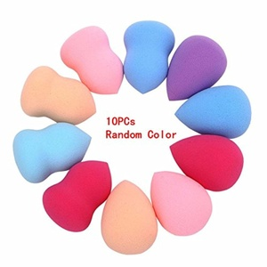 Sankuwen 4pcs Flawless Makeup Blender Foundation Puff Multi Shape Sponges (10 PCs Random Color)