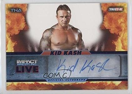 Kid Kash #/25 (Trading Card) 2013 TRISTAR TNA Impact Wrestling Live Autographs Blue #L47