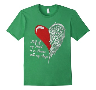 Men's Half Of My Heart Is In Heaven With My Angel T Shirt Small Grass