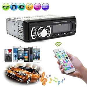 Bluetooth Car Stereo FM Transmitter Radio AUX Input In-Dash SD MMC USB MP3 Player Head Unit