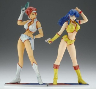 Dirty Pair Treasure: Kei & Yuri (Set of 2) (PVC Figure) by Wave