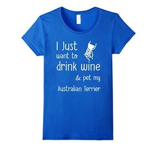 Women's Funny Australian Terrier T-Shirt for Australian Terrier love Large Royal Blue