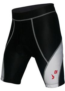 X-2 Men's Bicycle Biking 3D DI-Molded Padded Cycling Shorts White-Seam Black S