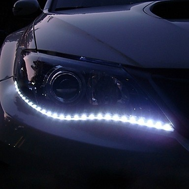 2pcs 30cm SMD White Waterproof Car Flexible LED Lights Strips