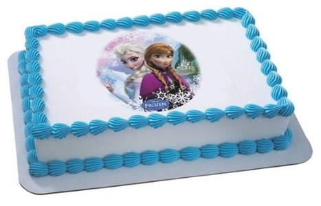 1/4 ~ Disney Frozen Sisters Birthday ~ Edible Image Cake/Cupcake Topper!!! by Piece of Cake Designs