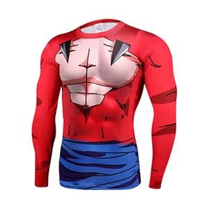 Cartoon DragonBall Son Goku Super Saiya Slim Fit 3D Shirt Cosplay Marvel Costume (Asian-XL)