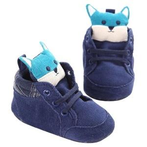 Fheaven Newborn Baby Kids Cartoon Prewalker Shoelace Toddler Non-slip Soft Sole Shoes (US:5( Age:12~18 Month), Blue)