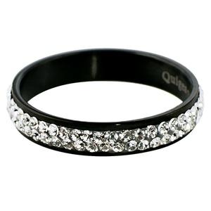 Quiges - Stacking Ring Slide-On Ring Black 18mm
