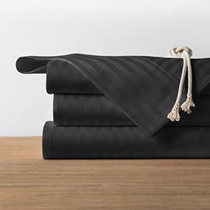 1800 Count 4 Piece Soft Wrinkle Free Deep Pocket Bed Sheet Set Black/Full
