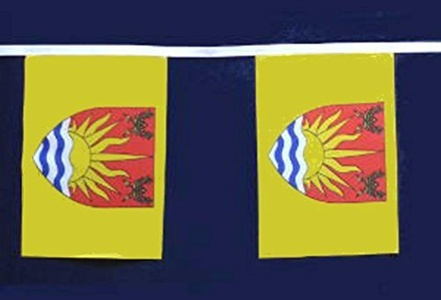Suffolk 9M Long - 30 Flags Bunting England English County Decoration by Suffolk