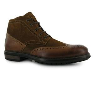 Mens Firetrap Hoodoo Brogues Boots Shoes Tan (UK 9 / US 9.5)