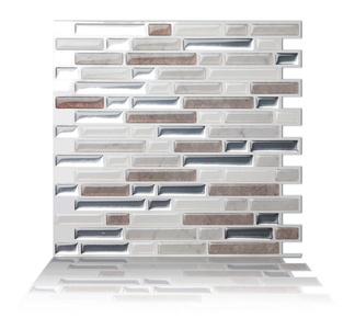 Tic Tac Tiles - Premium Anti-mold Peel and Stick Wall Tile in Como Pebble (5)