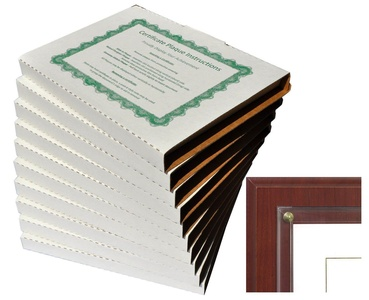 Walnut Grove Slide-in Certificate Plaque and Document Holder (10 Pack-Cherry)