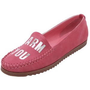 D2C Beauty Women's PU Leather Driving Moccasins Slip-On Flat Loafers Shoes - Red 7 M US