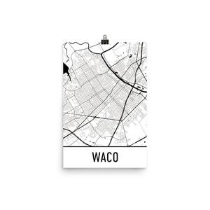 Waco Print, Waco Art, Waco Map, Waco Texas, Waco Poster, Waco Wall Art, Waco Gift, Waco Decor, Waco Cityscape, Waco Art Print, Waco Map Art, Waco Map Print (12
