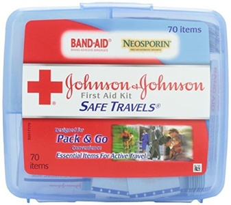 Johnson & Johnson Red Cross Save Travels First Aid Kit, 70 items, (Pack of 2) by Johnson & Johnson Red Cross