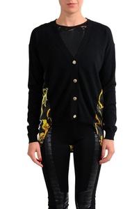 Versace Jeans Wool Silk Multi-Color Women's Cardigan Sweater US XS IT 38;