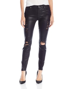 7 For All Mankind Women's The Ankle Skinny Jeans, Coated Fashion, 26