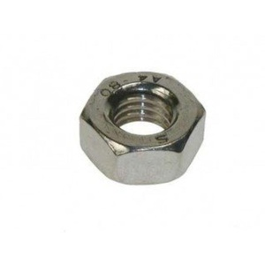 A2 Stainless Steel Metric Hexagon Full Nuts - M12 Nut 6Pk by Stainless Steel