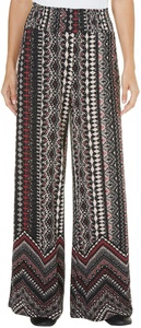 French Laundry Womens Tribal Print Mix Pants Large Red/multi