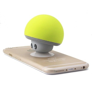 ICENN Mini Portable Wireless Bluetooth Mushroom Speaker and Cell Phone Support Holder with Suction Cup Loud Sound Compatible with Iphone Samsung Moto LG HTC Laptop Ipad Yellow