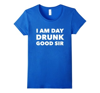 Women's I am Day Drunk Good Sir - Funny party drinking t shirt  XL Royal Blue