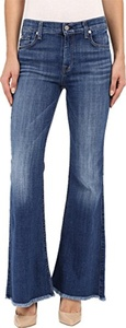 7 For All Mankind Women's Ginger with Raw Hem in Athens Broken Twill Athens Broken Twill Jeans 23 X 34.5