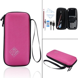 YiZYiF Protective Case for Graphing Calculator Texas Instruments TI-84 Hard Carrying Travel Storage Bag (Rose)