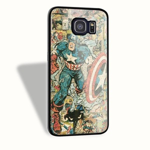 Captain america comic book For Iphone Case And Samsung Galaxy case (Samsung Galaxy S6 Black)