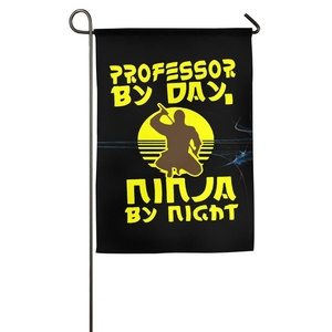 Printed Polyester Sturdy Professor By Day Ninja By Night Personalized Graphic Garden Flag.
