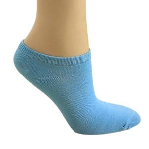 Braceus Women's Solid Color Low Cut Ankle Socks Boat Socks Pack of 6 Pairs - Blue