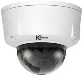 IC Realtime ICIP-D2000VIR 2 MP Indoor/Outdoor, 2 Megapixel 3-9mm VF Full HD Vandal-proof IR IP Dome Camera
