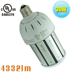 Caree-LED 30 Watt Pole Light LED Retrofit Corn Bulb,Medium Base E26 Replace Post Top,Post Mount Luminaire,Daylight White 6000K AC100-277V