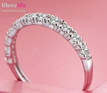 Dudee Jewelry White Crystal Ring Red Simulated Jewelry Vintage Cinta Purple Stone Aneis Joyas for Valentine J029