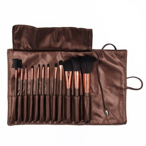 Make-up Brushes, 12 Pieces Profession Makeup Brush Set Cosmetics Foundation Blending Blush Eyeliner Face Powder Brush Makeup Brush Kit (Coffee)
