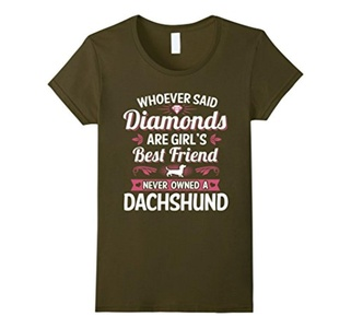 Women's Whoever Said Dog Best Friends Clothing Puppy Puppies T Shirt XL Olive