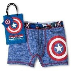 Men's Captain America Cationic Boxer Brief Blue