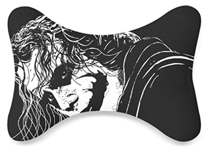 Art Designed Joker in White and Black Image Print Soft Headrest Car Seat Neck Pillow(Only One)