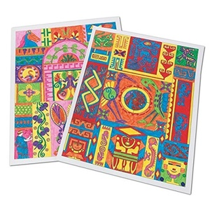 Ancient Culture Design Posters Craft Kit (makes 25) by S&S