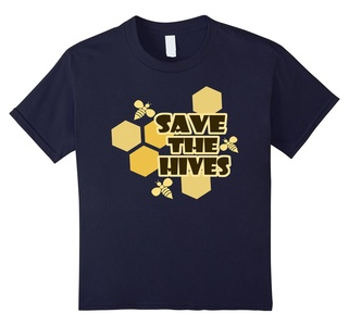 Kids Save The Bees Shirt - Beekeeper Tee HoneyBee Tshirt 12 Navy