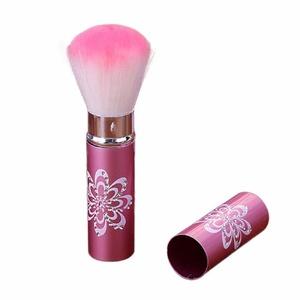 Blush Brush, TONSEE 1PC Mini Cosmetic Retractable Makeup Brush Loose Powder Brush Blush Brush (Pink)