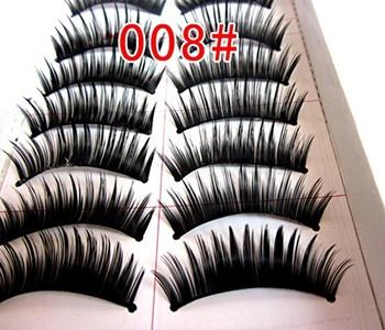 Petbly(TM) 10 Pairs Natural Thick Volume Styles Makeup Long False Eye Lash Eyelashes Black